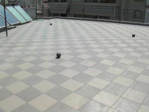 ταράτσα που μονώθηκε με durosol light roof plus