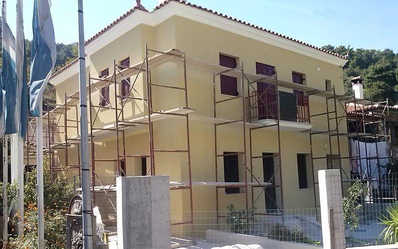 θερμοπρόσοψη σε διώροφο στη Μυτιλήνη