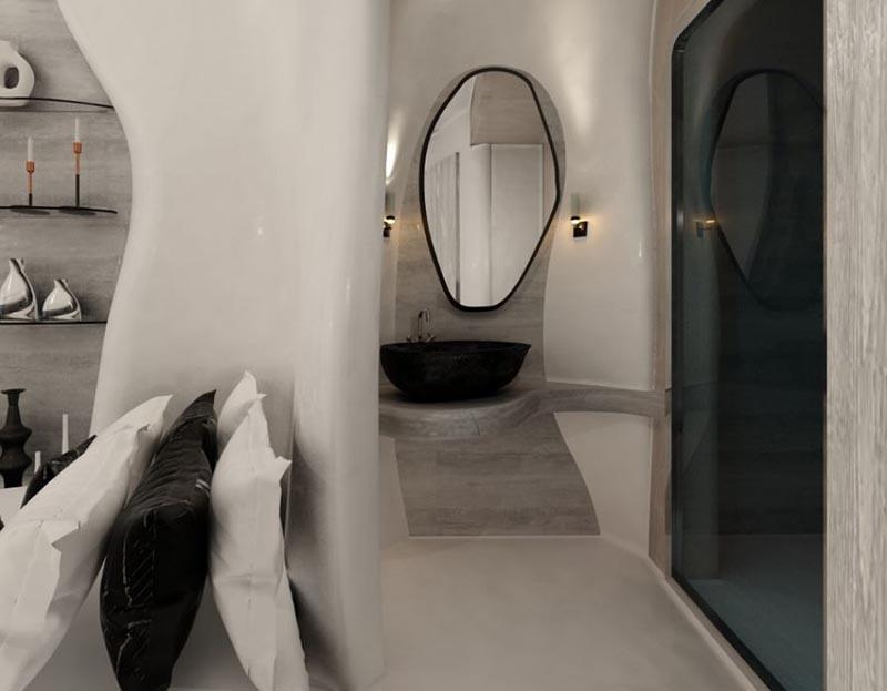 δωμάτιο ξενοδοχείου με πατητή τσιμεντοκονία