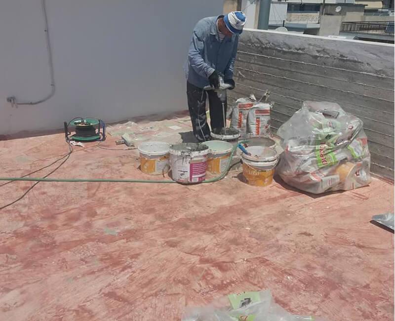 εργασίες εξωτερικής θερμομόνωσης σε νεόδμητο στο Μαρούσι