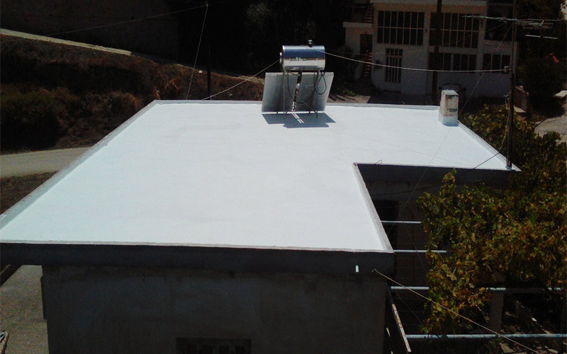 durosol light roof μόνωση ταράτσας σε κατοικία στην Επιδαυρο απο την Fragoulakis