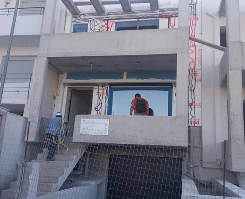 θερμοπρόσοψη σε κατοικία στο Γέρακα