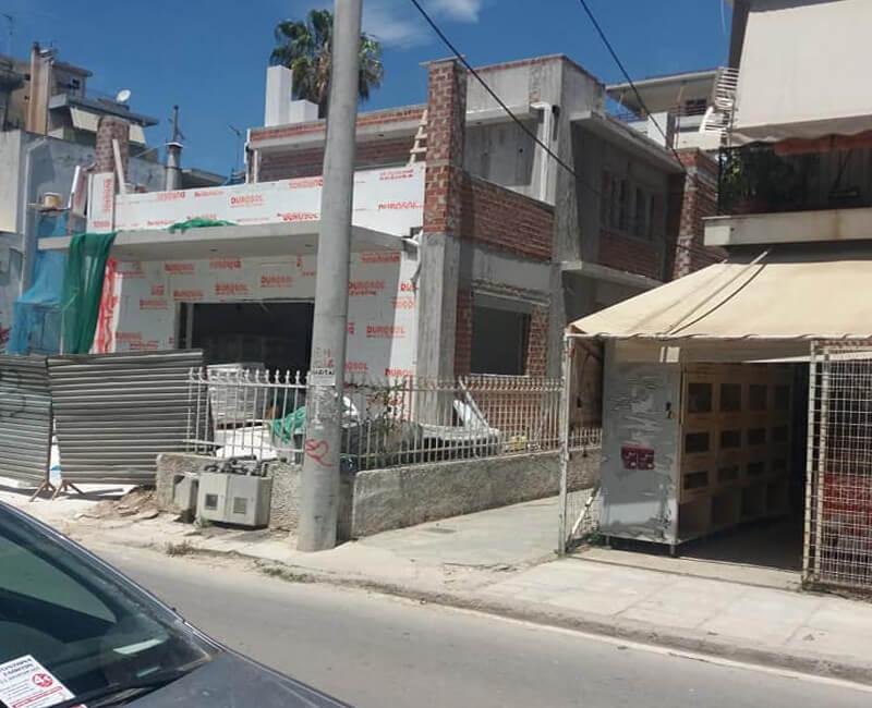 εργασίες εξωτερικής θερμομόνωσης σε νεόδμητη κατοικία στο Μαρούσι