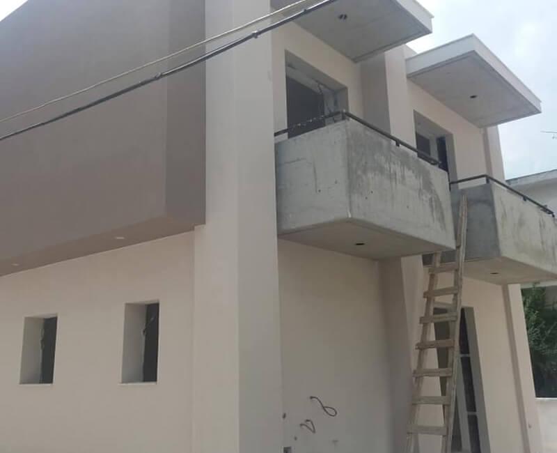 εφαρμογή εξωτερικής θερμομόνωσης με σύστημα Durosol External σε νεόδμητη κατοικία στο Μαρούσι