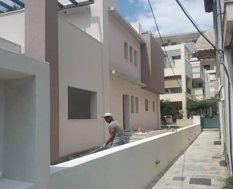 ολοκληρωμένο σύστημα εξωτερικής θερμομόνωσης σε νεόκτιστη κατοικία στο Μαρούσι