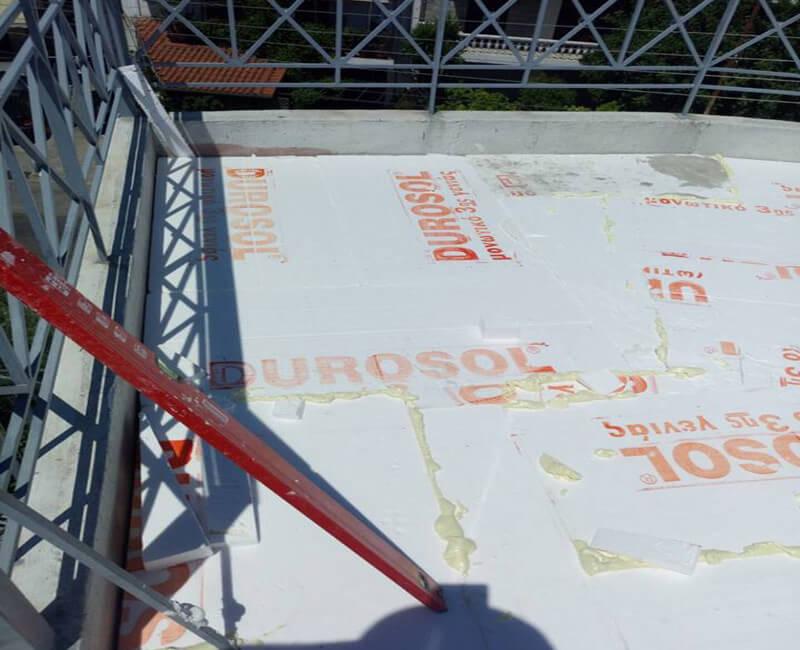 μονωτικό υλικό Durosol για μόνωση ταράτσας σε κατοικία στο Περιστέρι