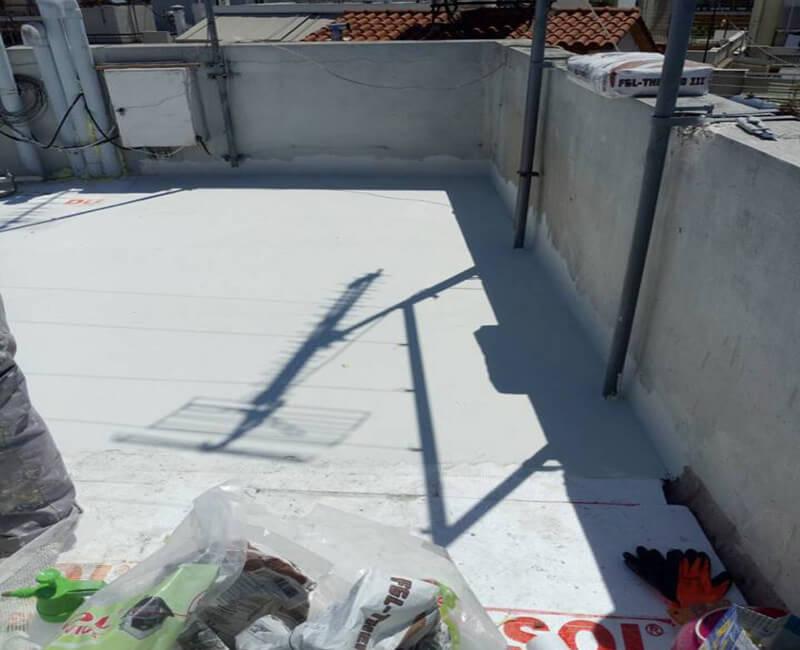 διαδικασία εφαρμογής Durosol Light Roof σε κατοικία στο Περιστέρι., απο τους συνεργάτες της εταιρείας Φραγκουλάκης
