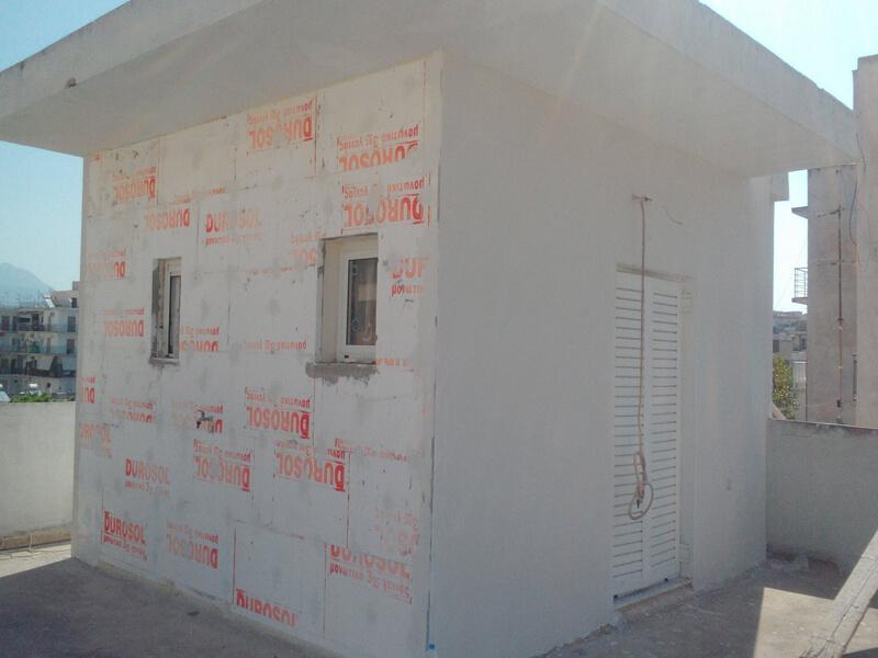 Θερμοπρόσοψη τοίχων με Durosol