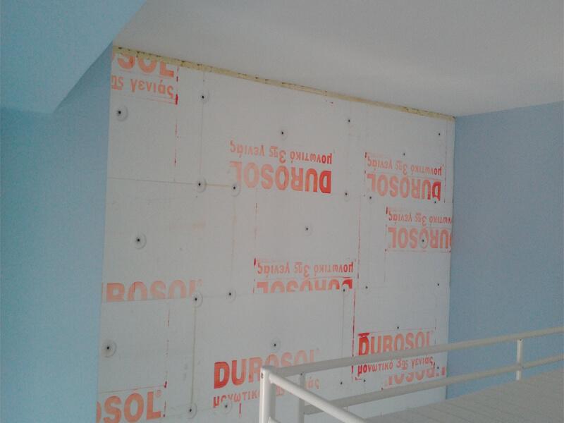 Διαδικασία εφαρμογής θερμοπρόσοψης τοίχων